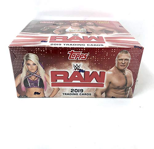 2019 Topps WWE Raw Wrestling Cards Retail Display Box (Best Of Raw And Smackdown 2019)