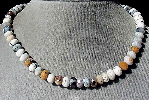 Wild Crazy Lace Agate Faceted Roundel Bead Strand 105611 ()