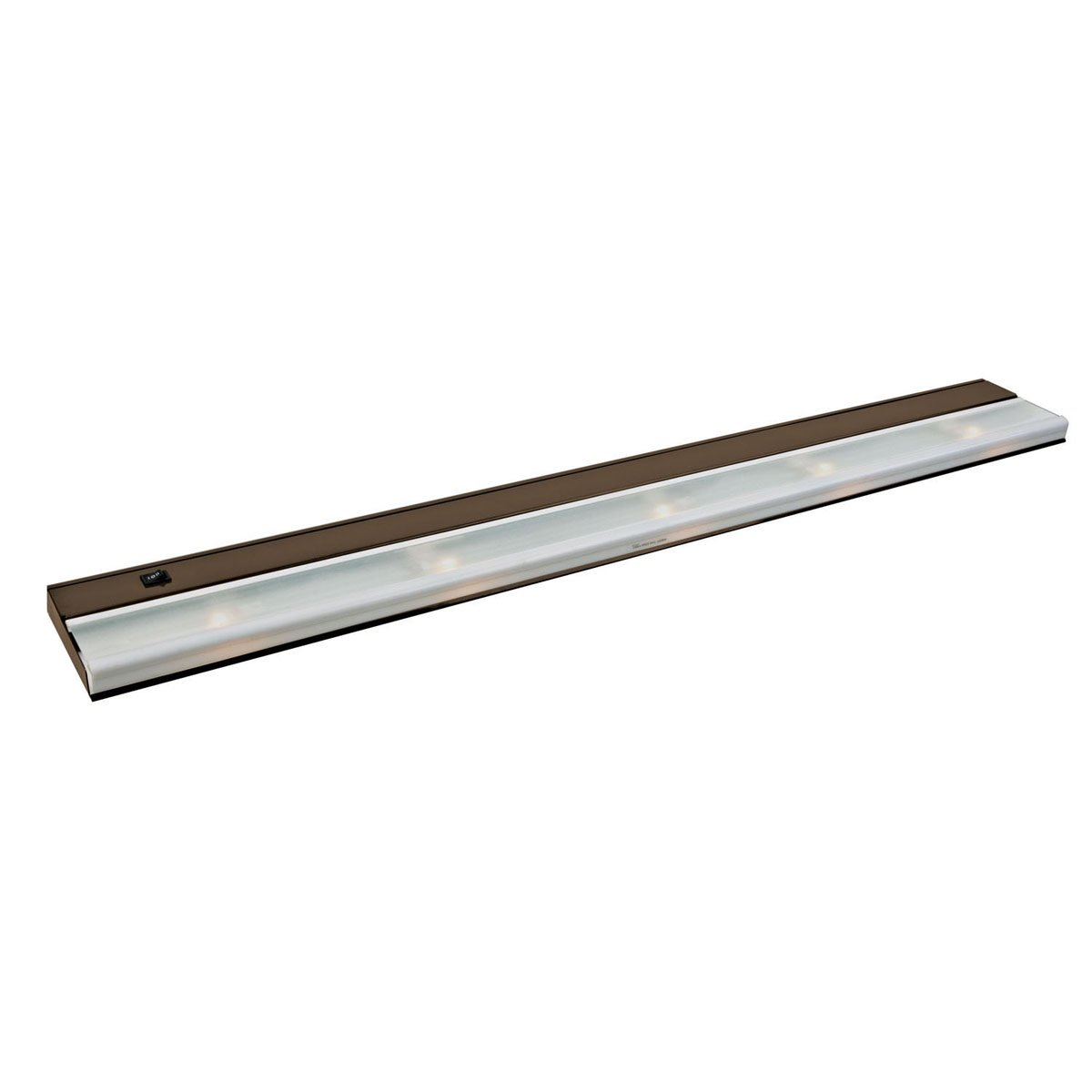 10595BZ TaskWork Direct Wire 40IN 5LT 12V Xenon Undercabinet Light, Bronze Finish with Frosted Glass Diffuser