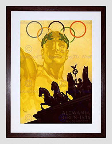 Toy Olympic Rings - SPORT AD 1936 OLYMPIC GAMES BERLIN RINGS HORSE STATUE FRAMED ART PRINT B12X6302