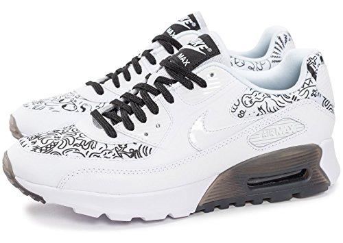 MAX de Air black Mujer Zapatillas W White Ultra NIKE 90 para Deporte Print White Blanco wAZq0n