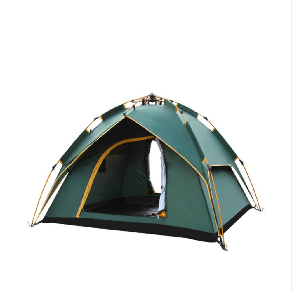 Zgsjbmh Familienzelt Outdoor-Multi-Personen-Aluminium Pole automatische Zelt Camping und Camping Schatten Sun-Beweis-Zelt Jahreszeiten Familienzelt
