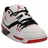 Nike Jordan Mens Jordan Flight23 White/University Red/Black Basketball Shoe 10 Men US