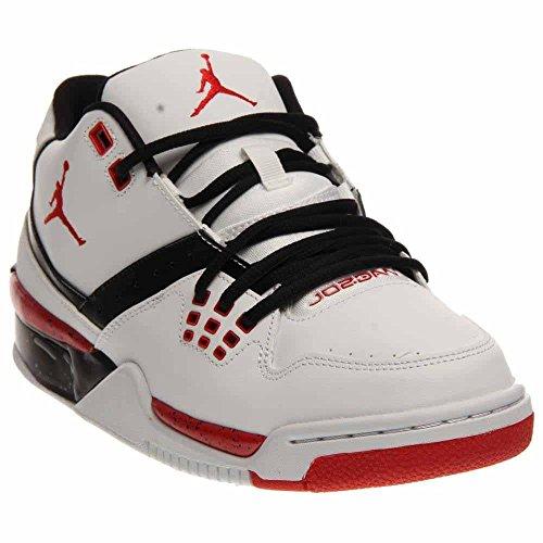 Nike Jordan Mens Jordan Flight23 White/University Red/Black Basketball Shoe 10 Men US by NIKE