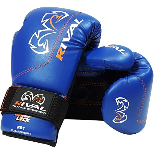 Rival Boxing Gloves-RB1 Ultra Bag Gloves (Blue, 14oz)