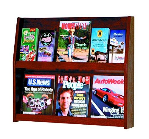 Wooden Mallet Slope 12-Pocket Literature Display, (12 Pocket Floor Display)