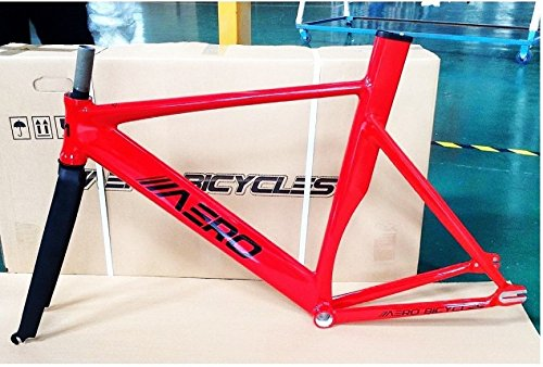 Aero Bicycles S7 Fixed Gear Frame, Fire Engine Red