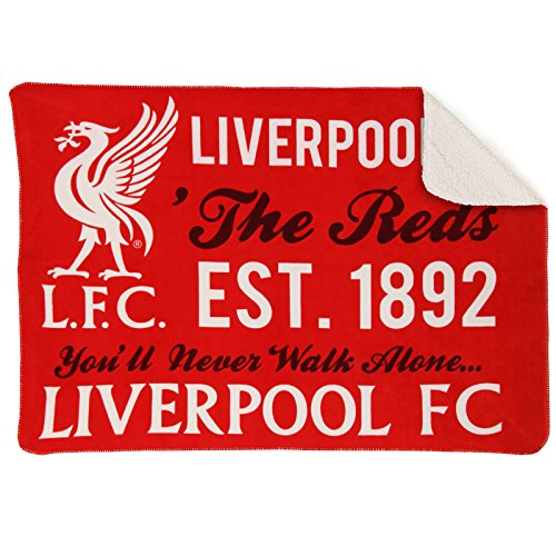 Fc Fleece Blanket - Liverpool FC Fleece Sherpa Blanket