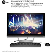HP Pavilion All-In-One 23.8-Inch Full HD 1080P IPS High Performance Desktop PC, Intel Core i3-6100T 3.2GHz 8GB DDR4 RAM 1TB 7200RPM HDD WiFi AC Bluetooth DVD-RW USB 3.0 Windows 10