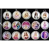 15 Barbie Silver Bottle Cap Pendant Necklaces Set 5