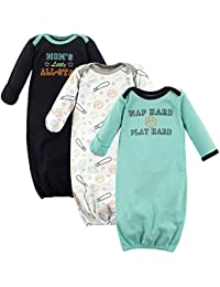 Baby Girls' Cotton Gowns, 3 Pack