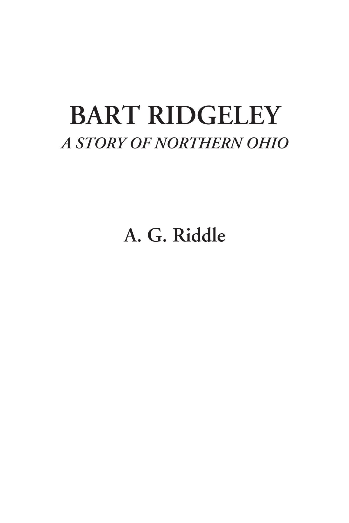 Download Bart Ridgeley (A Story of Northern Ohio) pdf