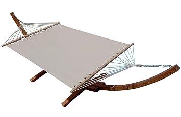 Wunderbar XXL Luxus Hängemattengestell Aus Holz Lärche Hängematte Modell: U0027DOMINICAu0027  410cm Mit Stabhängematte Von