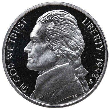 1992 S Proof Jefferson Nickel PF1