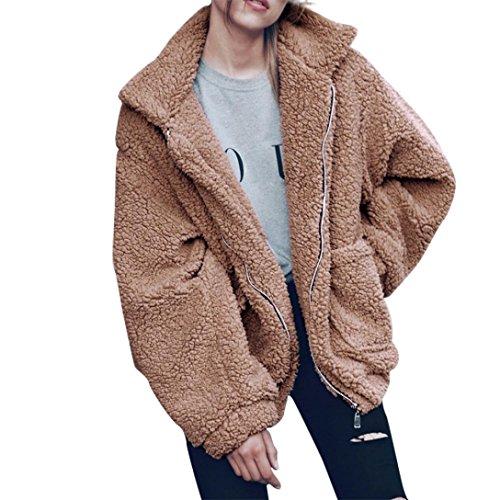 Donne Rivestimento Delle Cachi Pelliccia Keerads Finto Cappotto Inverno Caldo Outwear Della xzwwXO1Cq