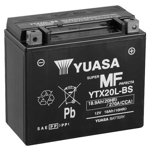 YUASA YTX20L-BS, batteria 12 V/18 AH (dimensioni: 175 x 87 x 155) per Harley Davidson FLSTC 1584 Heritage Softail…