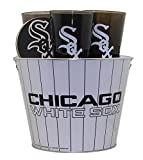 Chicago White Sox Pinstripe Metal Bucket Party Gift Set