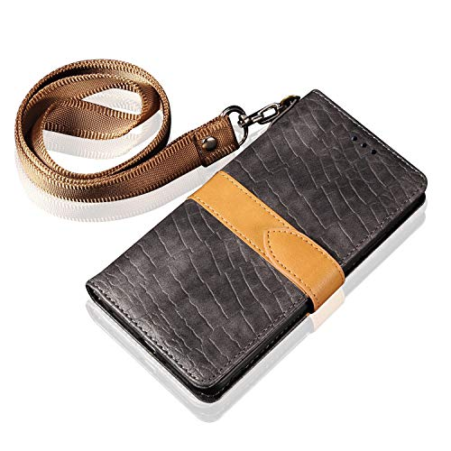 Patch Flap Purse - SENYIFA-Beautifully Phone case Crocodile Patchwork Design Business PU Leather Magnetically Closed Flap Wallet Cover Protective Case Cover Long iPhone Wristband for iPhone 6 Plus / 6S Plus