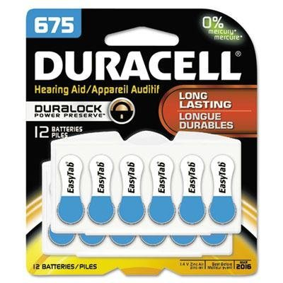 Duracell - 2 Pack - Button Cell Hearing Aid Battery #675 12/Pk