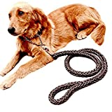 Ennc Pet Training Lead Heavy Duty Braided Nylon Rope Harness With Choke Collar Dog Leash Chain for Medium and Large Dogs