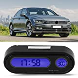Suuonee Car Thermometer Clock, 2 in 1 Car Digital