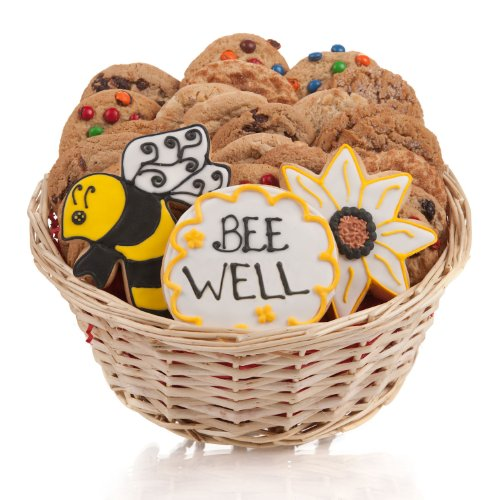 (Bee Well Cookie Gift Basket- 24 Pc.)
