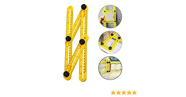 Builders Carpente for Handymen Angleizer Template Tool Universal Angularizer Craftsmen Metal Bolts and Nuts VIDEN Yellow Multi Angle Measuring Ruler
