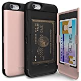 iPhone 6S Case, TORU [CX PRO] iPhone 6S Wallet Case - [CARD SLOT][ID HOLDER][KICKSTAND] Protective Hidden Wallet Case with Mirror for iPhone 6/6S - Rose Gold