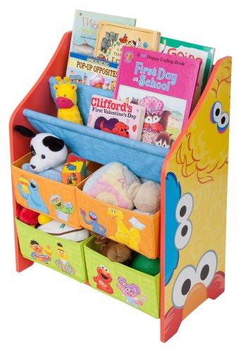 Elmo Toy Box - Delta Children Sesame Street Book and Toy Organizer