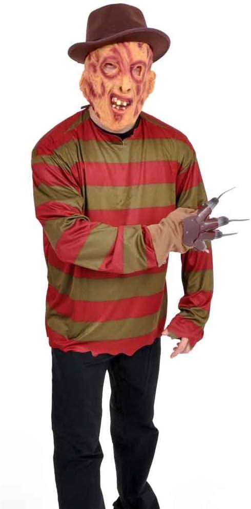 conjunto de traje de Freddy Krueger, 3 partes máscara, camisa ...