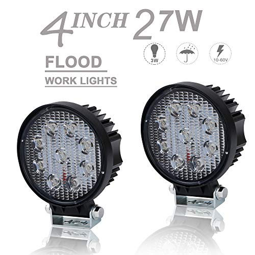 """OffRoad ROUND LED Work Lights KEENAXIS 12V/24V 4"""" Flood, used for sale  Delivered anywhere in Canada"""