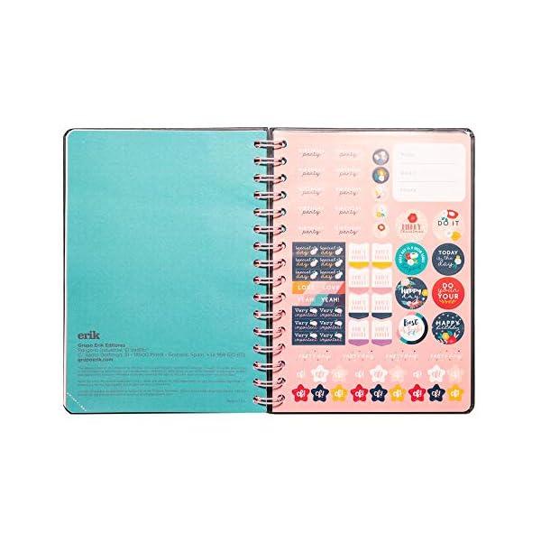Diario Scuola Settimanale 2020/2021 Blummen, 12 mesi, A5, spazi extra per la pianificazione, adesivi stickers 4 spesavip