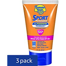 Banana Boat Sport Performance Lotion Travel Size, SPF 50, 2 Ounce (Pack of 3)