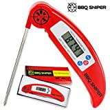 Ultra Fast Digital Instant Read Meat Thermometer | Folding, Stainless  Steel Probe for Grilling & Oven from BBQ Sniper