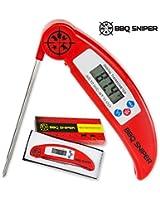 UltraFastDigitalInstantReadMeatThermometer Folding,Stainless SteelProbeforGrilling&OvenfromBBQSniper