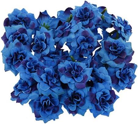 Ultnice 50 Stuck Blumenkopfe Kunstliche Blume Kopfe Stapelia Kopfe Rose Kopf Fur Hausgarten Hochzeit Geburtstag Party Dekoration Blau Amazon De Baumarkt