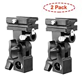 Thinvik Photo Studio Flash Speedlite Mount Swivel Light Stand Bracket with Umbrella Reflector Holder for Camera DSLR Nikon Canon Pentax Olympus Yongnuo Altura and other Universal Cold Shoe Flashes