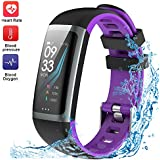 WELTEAYO Fitness Tracker, Activity Tracker Watch with Heart Rate Monitor, Color Screen Smart Bracelet with Sleep Monitor, IP67 Waterproof Smart bracelet for Android and iOS (G26-P)