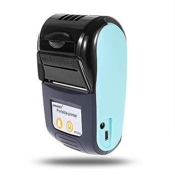 Haihuic Mini Impresora térmica inalámbrica, Bluetooth USB ...