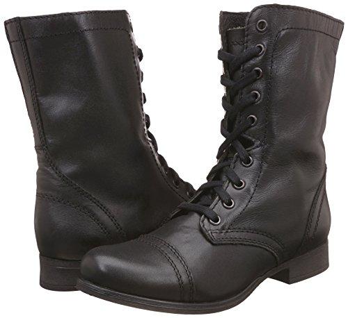 Damen Damen Leather Troopa Black Steve Madden gwBIcE