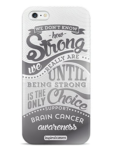 Inspired Cases 3D Textured How Strong - Brain Cancer Awareness Case for iPhone 6 Plus & 6s Plus
