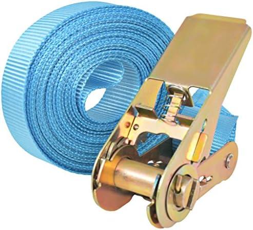 Festnight Correas de Sujeci/ón de Trinquete Juego de 4 0,8 Ton Color de Azul Material de Poli/éster 6mx25mm