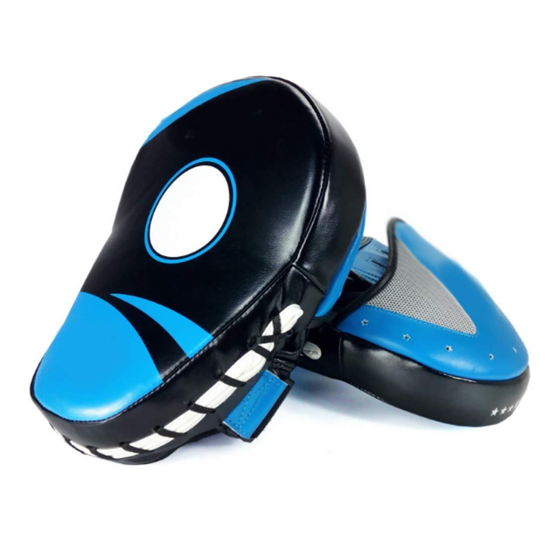 koloeplf テコンドー空手サンダMMAボクシングミットレザー/ボクシングジム/ボクシング/ムエタイ (Color : ブルー) B07KM4ZVNQ  ブルー