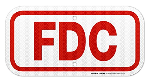 """FDC Laminated Sign - 6"""" X 12"""" - .060 3M Engineer Grade Reflective Aluminum - Made in USA - UV Protected and Weatherproof - A88-373RA"""