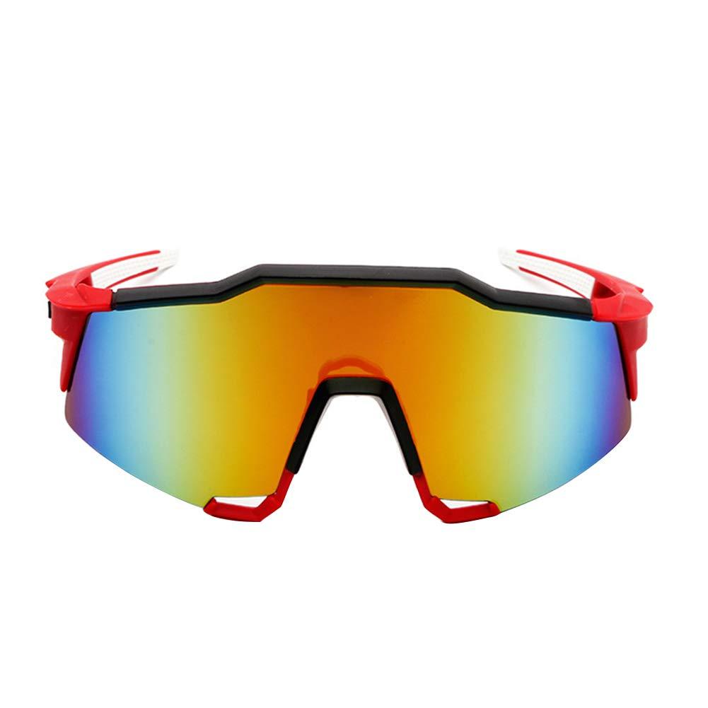 Duk3ichton Outdoor UV400 Polarized Radsportbrille Sonnenbrillen Fahrradbrillen Eyewear - Rot + Schwarz