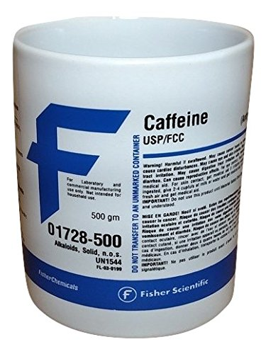 Fisher Scientific Caffeine Chemical Label product image