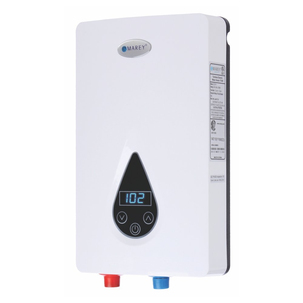 Marey ECO150 220V/240V-14.6kW Tankless Water Heater with Smart Technology, Small, White by MAREY