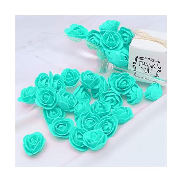 KODORIA-100pcs-Artificial-Foam-Rose-Head-Artificial-Rose-Flower-for-DIY-Bouquets-Wedding-Party-Home-Decoration-Tiffany-Blue