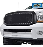 EAG Rivet Stainless Steel Wire Mesh Replacement Fit for 06-08 Ram 1500/06-09 Ram 2500/3500 Grille