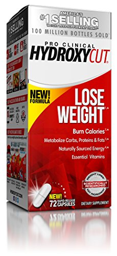 Hydroxycut Pro Clinical Weight Loss Supplement, 72 Count - New Weight Loss Formula